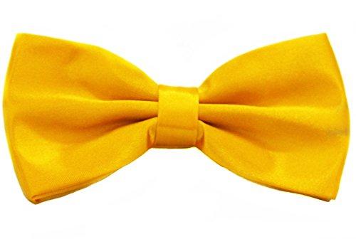 (Soophen Pre Tied Mens Adjustable Bow Tie Yellow)