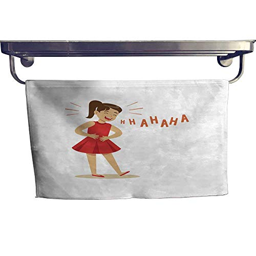 Suchashome Pool Gym Towels Girl in a red