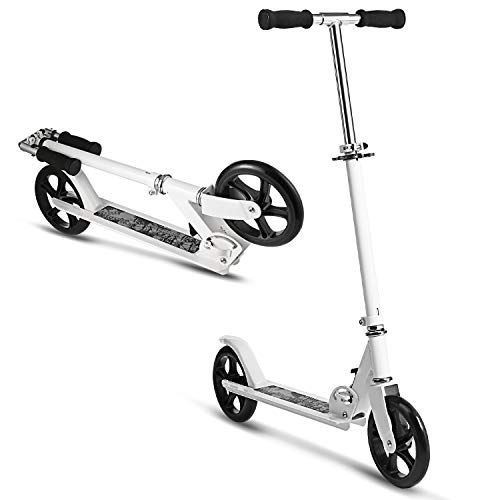 Hikole Kids Scooter - Portable Foldable Adjustable Ultra-Lightweight | Adult Teen Youth Kick Scooter with Easy Fold-n-Carry Design, Birthday Gifts for Kids 8 Years Old and Up | Support 220 lbs by Hikole (Image #1)