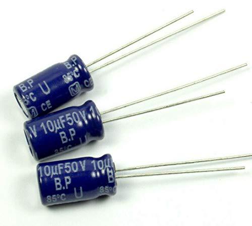 (LB #74) 10pcs Panasonic SU, Radial Electrolytic Capacitor, 10uF 50v, Non-Polar BP NP U