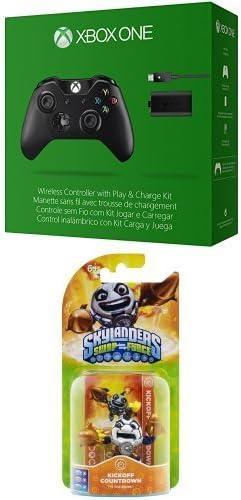 Microsoft - Pack Mando Wireless + Kit Carga Y Juega - Nueva Edición (Xbox One) + Skylander SF Single Kickoff Countdown: Amazon.es: Videojuegos