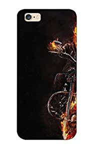 [bkvitf-5119-epynwid]premium Phone Case For Iphone 6 Plus/ Ghost Riderskeleton Fire Bike Dark Skull Tpu Case Cover(best Gift Choice)