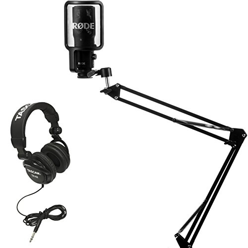 Rode NT-USB Condensor Microphone with Knox Mic Boom Arm