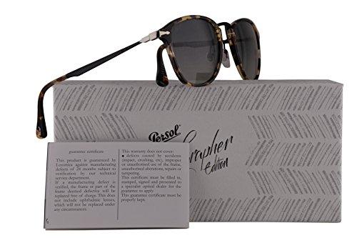 Persol PO3165S Calligrapher Edition Sunglasses Beige Brown Havana w/Grey Gradient Lens 52mm 105771 PO 3165-S PO3165-S PO - Glasses Kate Moss