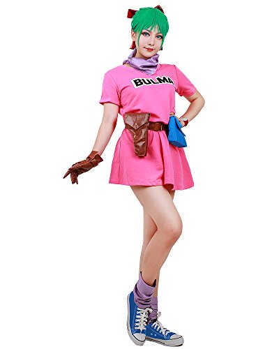 [Miccostumes Women's Dragon Ball Bulma Cosplay Costume (women s)] (Bulma Costume)