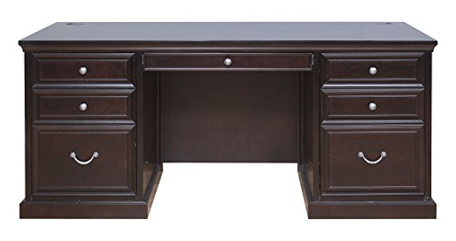 "UPC 819950007447, kathy ireland Home by Martin Fulton 68"" Double Pedestal Executive Desk - Fully Assembled"