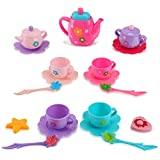 Liberty Imports Princess Royal Tea Set Pretend Playset | Kids Tea Party Play Food Accessories Kitchen Toy Teapot Gift Set for Girls (21-Piece)