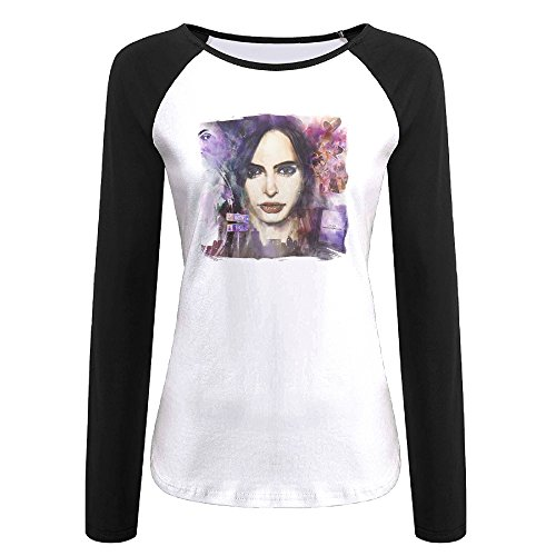[Creamfly Womens Jessica Jones Poster Long Sleeve Raglan Baseball Tshirt S] (John Paul Jones Costumes)
