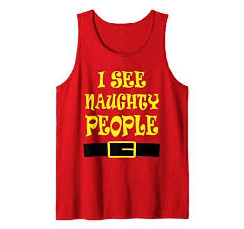 I See Naughty People T-Shirt Christmas Costume Santa Elf Tee Tank Top]()