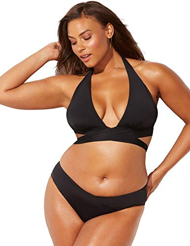 Set Ambassador - Swimsuits for All Women's Plus Size Ashley Graham Ambassador Bikini Set 18 Black
