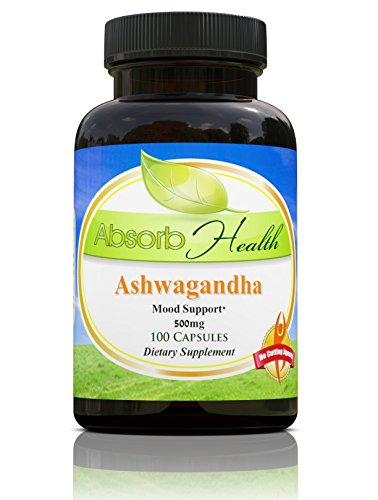 Ashwagandha (10:1) Extract | 500 mg | 100 Capsules | Traditioinal Stress Reducer Herb by Absorb Health