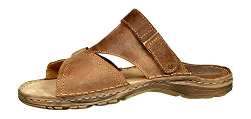 Herren Bequeme Sandalen Schuhe Mit Der Orthopadischen Einlage Aus Echtem Buffelleder Hausschuhe Modell 866 Beige