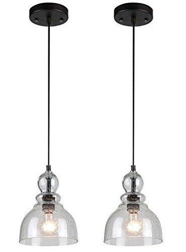 Glass Pendant Foyer Light