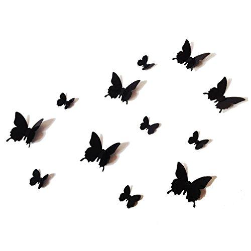 Amazoncom 12 Pcs 3D Black Butterfly Purple Stickers Making