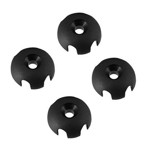Dovewill 4 Pcs Black Plastic Small Round Clover Deck Line Guide Rope Buckle For Kayak Canoe Boat Dinghy Marine -  68790d15ff571c096c83e76802ce3b74