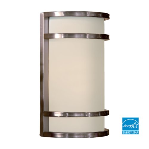 Minka Lavery Outdoor Wall Light 9802-144-PL Bay View Exterior Pocket Sconce Lantern, 26 Watts Fluorescent, Steel