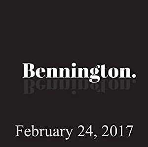 Bennington, February 24, 2017 Radio/TV Program