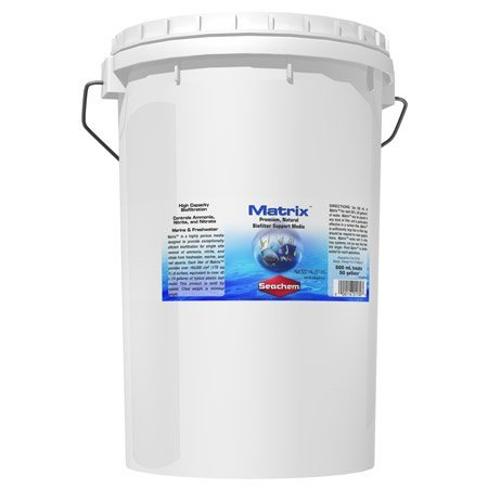 Matrix Media - High Capacity Biofiltration - Inorganic Porous Filter 20 Liter / 5.3 Gallon by Seachem