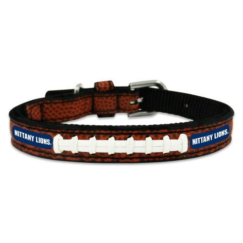 NCAA Penn State Nittany Lions Classic Leather Football Collar, Toy