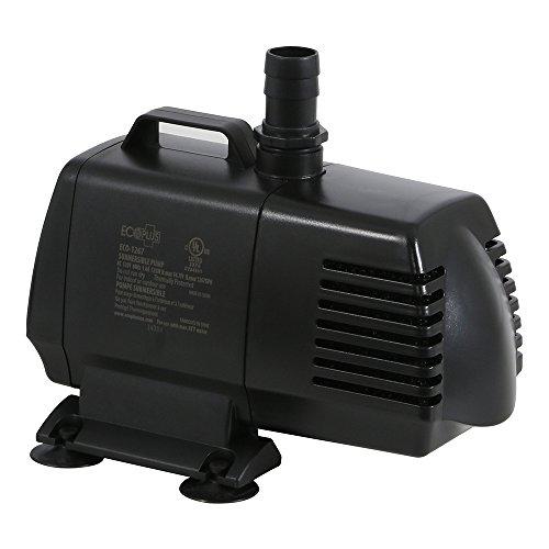 EcoPlus 1340 GPH (5072 LPH, 125W) Submersible Water Pump w/ 15 ft Power Cord | Aquarium, Fish Tank,...