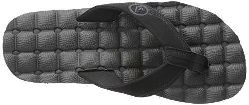 Destructor Black Flip Flop Recliner Volcom Sandal Men's gx77PB