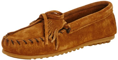 Kilty Suede Moc - Minnetonka Kilty Moc (Toddler/Little Kid),Dusty Brown,2 M US Little Kid