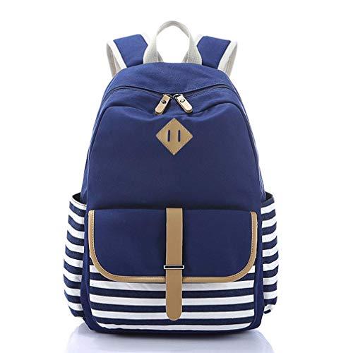 Double Shoulder Bag Striped College Wind Travel bag Computer bag Travel bag Student bag ()