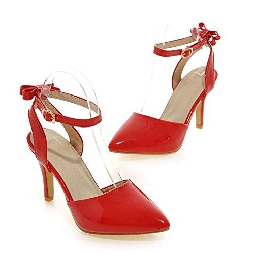 Domstol Søte For Røde Sko Sjjh Med Store Hæl Kvinner Fahion Bowtie Elegante Og Størrelse Sandaler Tynn UH7HYqvw