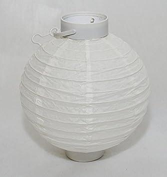 Lanterne Chinoise En Papier Avec Eclairage Led A Batterie Diametre