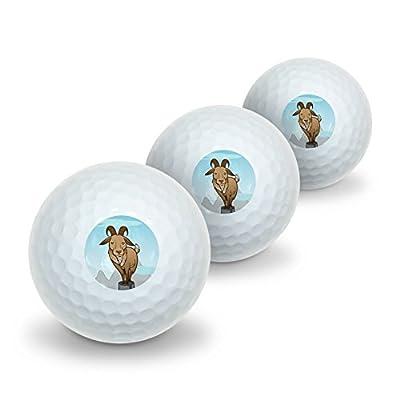 Goat On Mountain Top Novelty Golf Balls 3 Pack