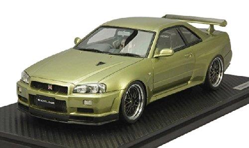1/18 Nissan Skyline GT-R V-spec II R34 (ミレニアムジェイド) IG0163