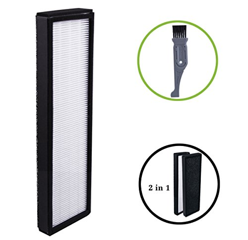 I-freshly laundered Filter B For GermGuardian FLT4825, True HEPA Filter Replacement Fit for AC4825 AC4300 AC4800 4900 Series Air Purifiers (With a Free Cleaning Brush)