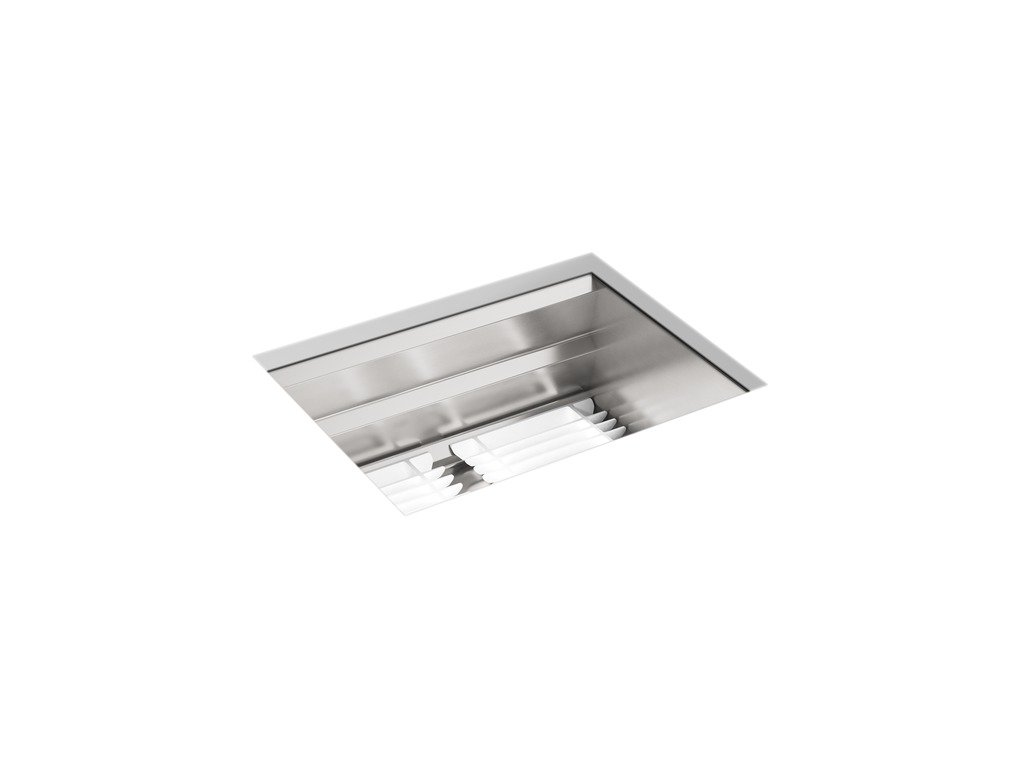 KOHLER Prolific 23 inch Workstation Stainless Steel Single Bowl Kitchen Sink with included Accessories, 10 inches deep, 18 gauge, Undermount installation K-23650-NA