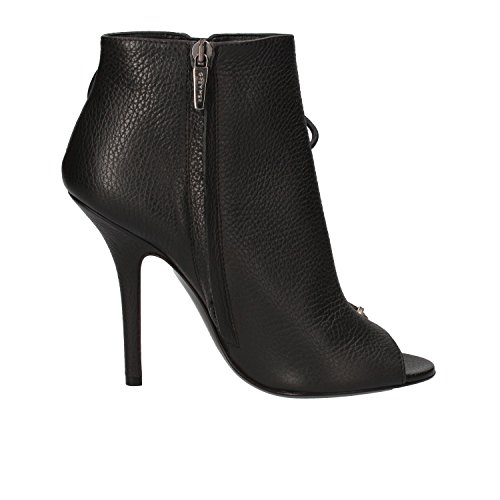 Tronchetto Cuero de Zapatos AE285 40 MER Negro EU Mujer GREY qYtPSx