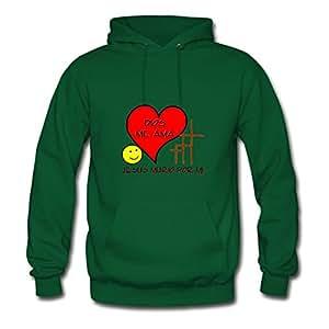 Dios Te Ama... Printed Women Creative Sweatshirts - X-large - Electric Green