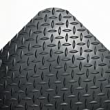 Crown CD0312DB Industrial Deck Plate Anti-Fatigue Mat Vinyl 36 x 144 Black, 36 x 144, Black