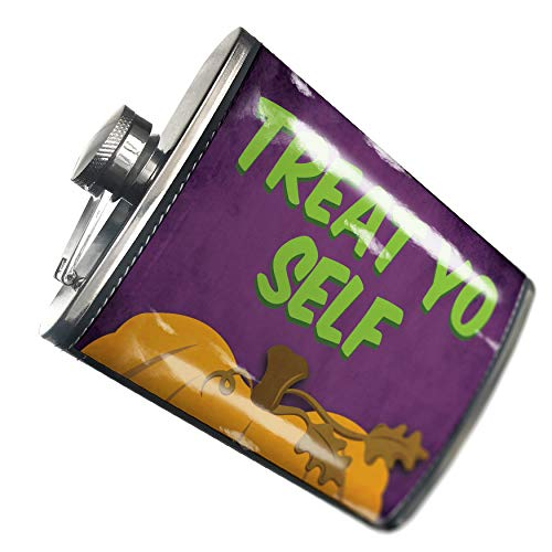 NEONBLOND Flask Treat Yo Self Halloween Pumpkin Top