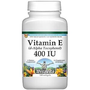 Vitamin E (d-Alpha Tocopherol) – 400 IU (100 softgels, ZIN: 428181) – 3 Pack