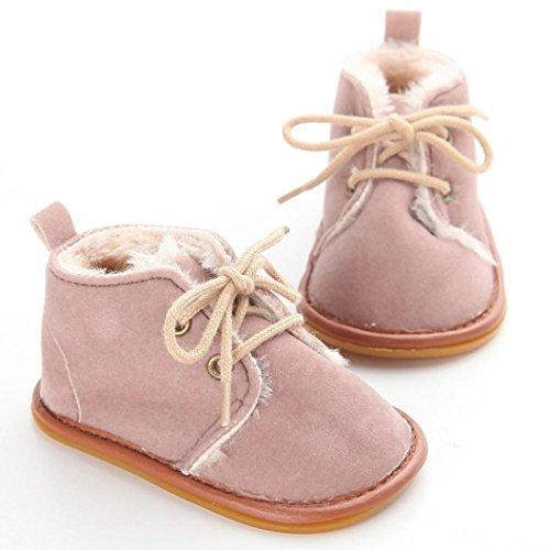 Zapatos Bebé,Xinantime Botas de Nieve para Niños Niñas Invierno Calientes (19, Marrón) Marrón
