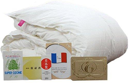 甲州羽毛ふとん 肌掛け布団 ダウンケット フランス産ホワイトダウン 93% ロイヤルゴールドラベル 超長綿 日本製 (クイーン) B07B5KTG5X クイーン クイーン