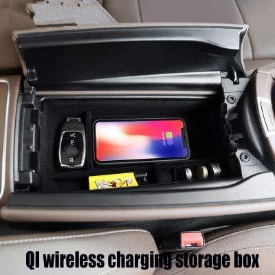 Chargeur de voiture QI sans fil bo/îte de charge bac de rangement central accoudoir couvercle de bo/îte pour Mercedes Mercedes W213 2017 2018