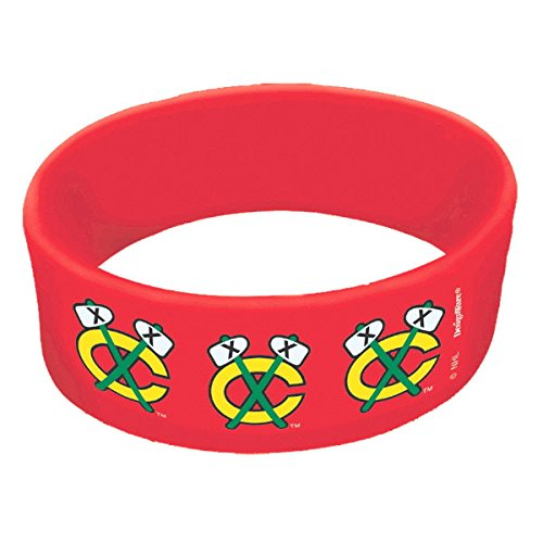 Amscan ''Chicago Blackhawks Collection'' Cuff Band Party Favor, 36 Ct. by Amscan (Image #1)
