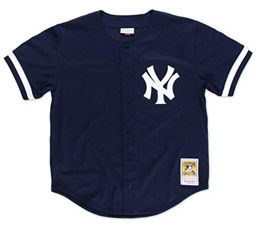 Bernie Williams 1998 MLB Button Up BP Jersey (3XL)