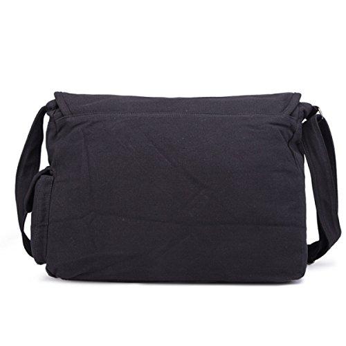 Shoulder Satchel Pouch Myll Messenger Courier Bag Canvas Black Uomo Business 5qWOnvU