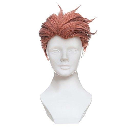 C-ZOFEK OW Moira Cosplay Costume Wig Orange 30cm -