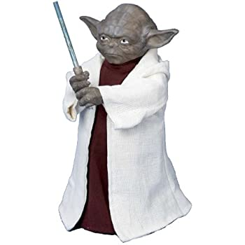 "Star Wars Battery Operated Yoda With LED Light Saber and On/Off Button Tree Topper - Uses 3 ""AA"" Batteries (Not Included)"