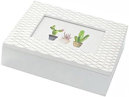 Vacchetti Giuseppe Caja de Madera Blanca para Fotos y Porta ...