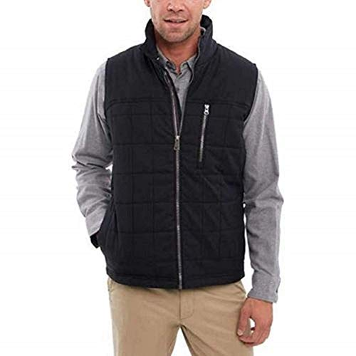 (Orvis Men's Quilted Vest Classic Fit (Black,)