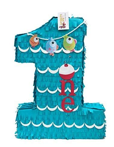 APINATA4U Large Number One Pinata Little Fisherman Theme