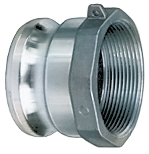 Kuriyama AL-A400 Aluminum Part A 4'' Male Adapter x Female NPT, 150 PSI